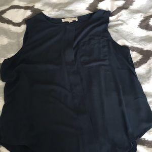 Loft teal blue sleeveless blouse